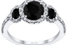 Black Diamond Engagement Rings / Black diamond engagement rings are not only incredibly beautiful, they are also typically more affordable than more traditional engagement rings.  We offer many different styles, including solitaire black diamond engagement rings and black diamond rings with a white diamond halo. Which styles are your favorites?