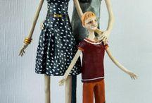 bambole la famiglia