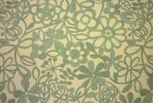 Floral fabrics - Teal / Fabrics for interlined curtains