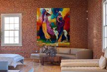 Моя живопись в современном интерьере / Для большей наглядности. Интерьер современного жилища и мои картины в нем. Как и насколько хорошо вписывается