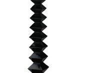 LARGE MODERN Black Floor Standing Sorrento Lamp Light & Shade