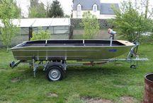 Bass boat - pêche - barque aluminium