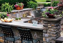Outdoor kitchen ideas / by Sharon Hilton