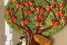 Ślub / Drzewka genealogiczne ręcznie wykonane w podziękowaniu rodzicom na ślubie  www.ogrodybasi.pl