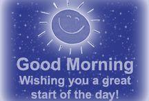 Good morning / Greeting
