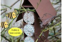 Project Bijen /       knutsel ideeën voor het thema