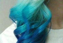 Blue ocean Ombré