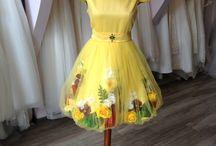 "Summer Flowers Dress / Rochie realizata din bumbac satinat, decorata cu ""flori de vara"" si cristale Swarovski (Emerald, Light Siam, Sunflowers si Crystal), special creata pentru frumoasa noastra Sara! Multumim pentru comanda, Sara! :*"