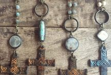 Bohemian Inspired Fashion Close up of these rustic handmade boho beauties by @funkytrunkvintage