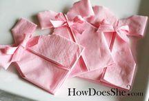 Pliage de serviettes
