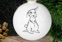 Personalised christmas baubles 2017 / Lovely personalised baubles for the tree this Christmas