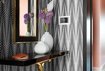 Wall papered rooms