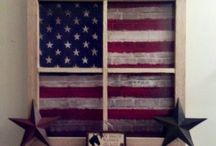 Patriotic Decorations / Celebrate the holidays with some salvaged decorations!
