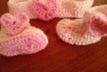 Crochet.baby booties