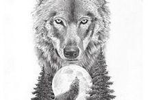 Farkasos tetoválások