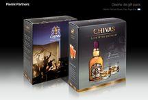 Packaging bebidas alcoholicas / Diseños de envases para bebidas alcoholicas: whisky, vodka, ron, vermouth, jerez, pacharán, ginebra, coñac, orujo, absenta, etc...