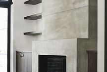 . fireplace + mantle .