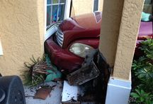 Car Crash in Naples Florida / #H2o911 received a call about an accident of a car driving into a home. Our crew was there within 30 minutes to get everything back to normal.