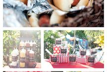 Themed food stations