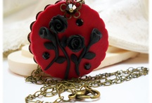 Picture Pendants - Flower Art / Unique one of a kind necklaces perfect for gift giving.  A scenic style pendant completely handcrafted from the solid colorful clay base to the picture design. / by Stranded Treasures