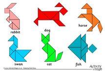 tangram, origami etc