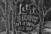 Winter classroom boards