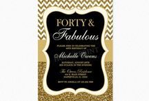 Forty and Fabulous Birthday Party Ideas
