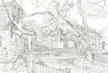Shunde China. Urban sketch/ Pleinair