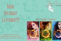 Giveaways! / Contests and giveaways as thank you's to terrific readers and supporters.
