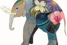 Animal Art: elephants / by Abbey Trescott