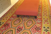 Triff Rugs in Bonpoint stores deco / Bonpoint has trusted Galerie Triff with their Kilims to bring a warm and cosy interior to their stores.