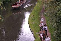 Horse drawn narrowboats