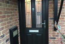 New Composite Doors / A selection of new doors fitted by Errington Locksmiths and Security in Milton Keynes.