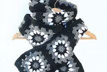 Crochet Scarves / crochet scarves, granny crochet scarves,ribbed crochet scarves,striped crochet scarves / by Sara Rivka Dahan