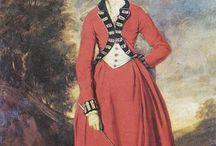 Silhouette féminine XVIIIe
