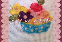 Cupcake  crossstitch  puntodecruz  etamin handmade /  crossstitch  puntodecruz  etamin handmade