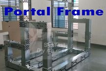Portal frame / Portal frame is a multi-purpose testing base frame.It can be used for various setups like torsion testing,tensile and compression load cell calibrations setups,suspension fatigue test setups . You can use this design as per your requirement. The loading capacity of this portal frame modular structure is up to 5 tonne.