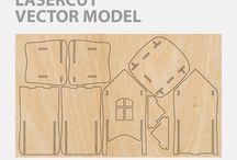 lasercut vector model