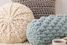 crochet pillows and decorations