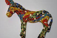 mosaic donkey