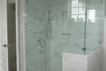 Our Shower Glass / A collection of some of the shower glass we have installed, repaired, and designed.