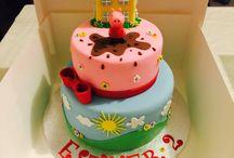 Kids cake / Baby Sisters birthday cake Peppa pig!