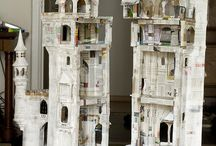 Fairy houses / Hand made cottages for fae habitation / by Kathy Davis