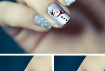 Christmas  nails and stuff