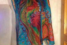 My silk scarf / Silkpaint