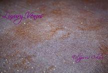 Luxury Venus / Lino 11 fili con lurex oro inserito - colore rosa violaceo/rame sfumati e perlati