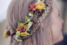 Hair flower wreaths and decorations