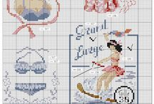 Cross stitch-beach