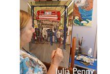 Julia Penny, Black Dog Studio / Artist Julia Penny, Studio #3 on the WAVE tour / by WAVE Artists