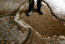 Restoration terrazzo Floor, castel of San Sebastiano Po